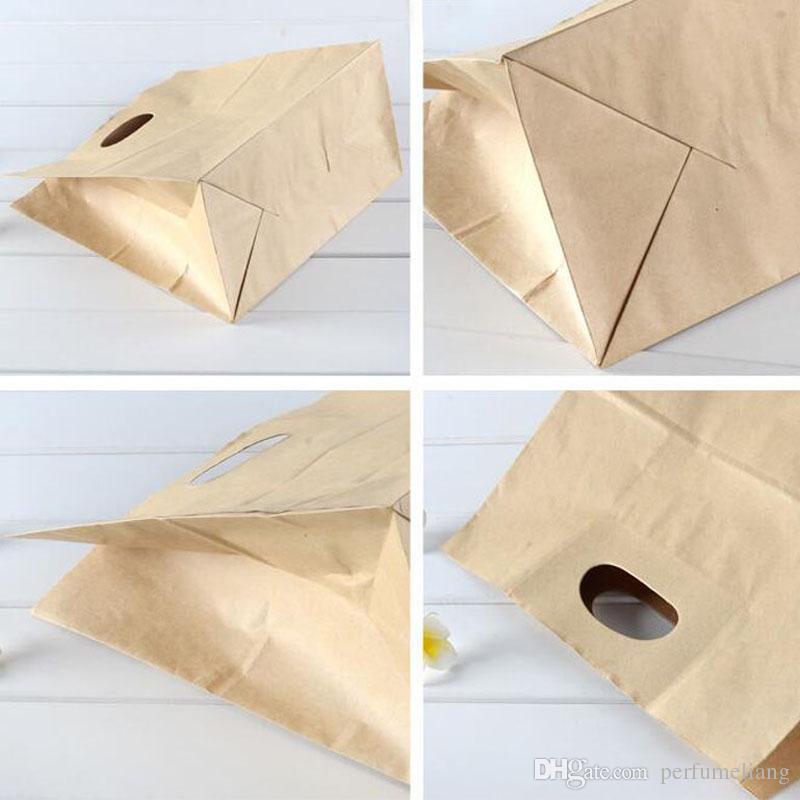 28x15x28 cm Grande Kraft Sacos De Papel De Pão Snack Sanwich Envoltório Caixas de Embalagem de Alimentos Embalagem de Alimentos Sacos de Lidar Com ZA4374