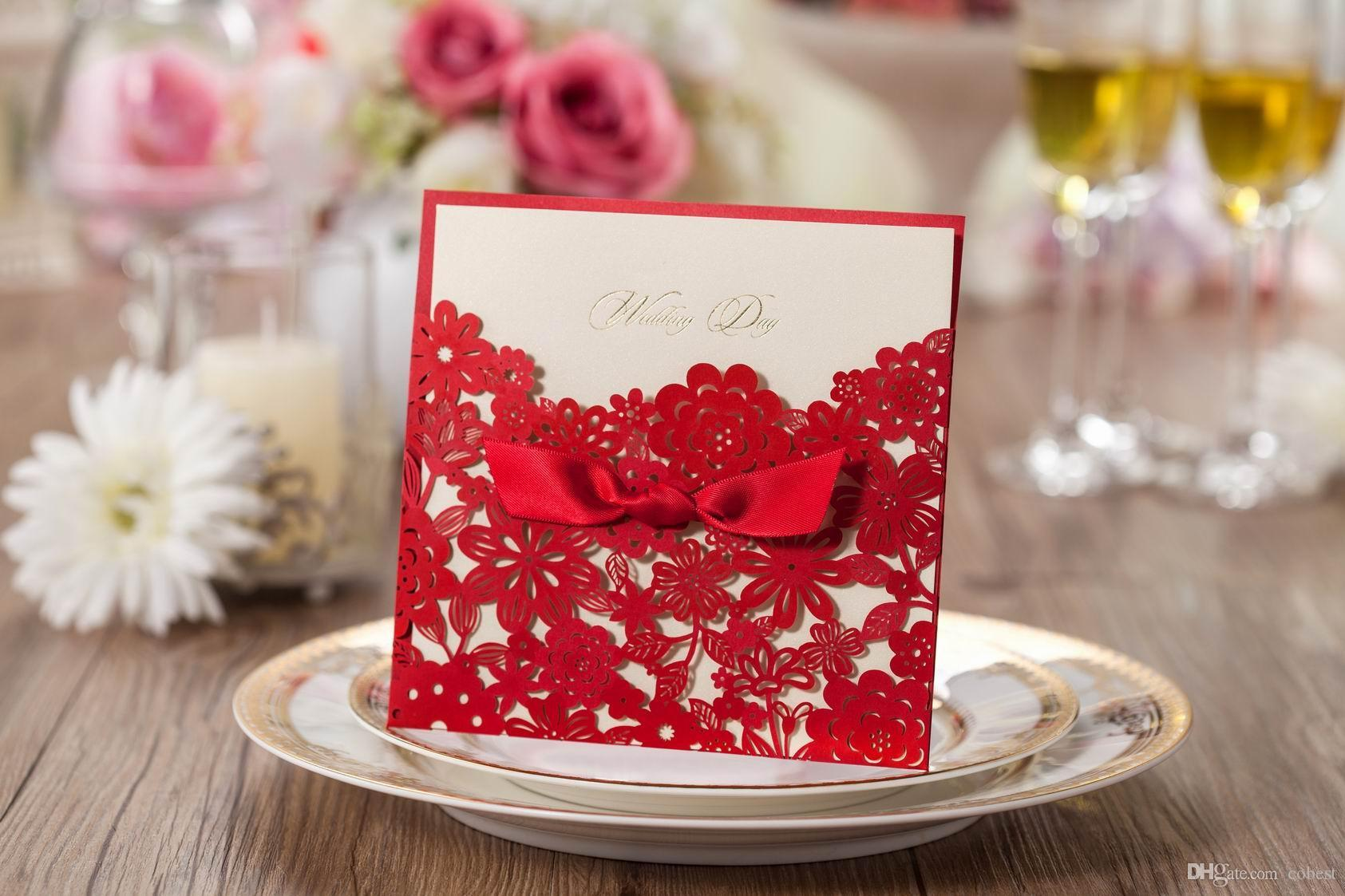 Wedding Invitations Cards Personalized Wedding Invitation Card Laser ...