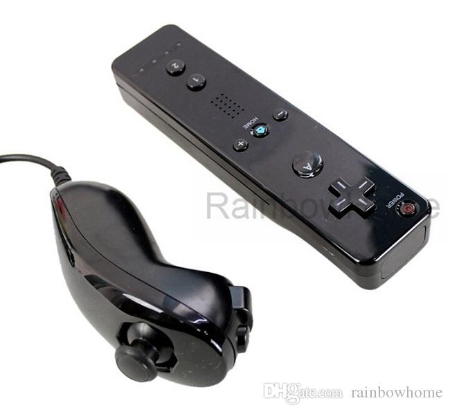 Wireless Remote Controller + Nunchuck Nunchuk Controller for Wii U Game Console Motion Plus Silicone Case Skin Left Right Joystick Kit