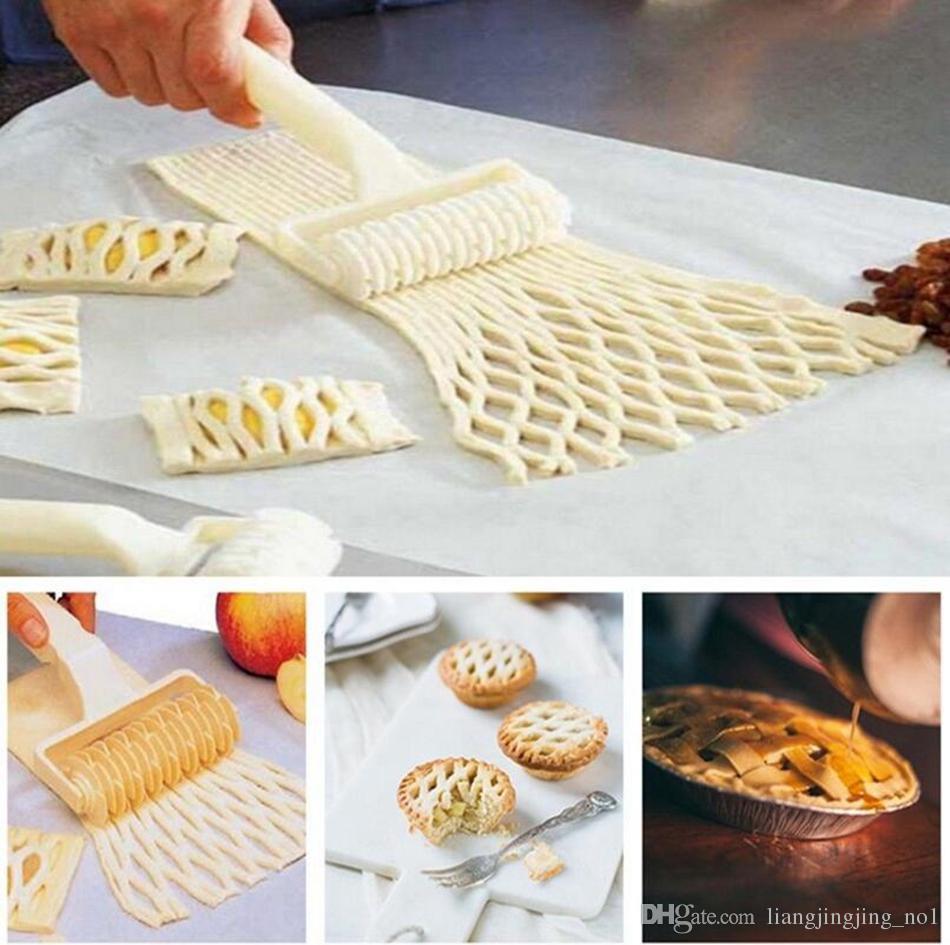 Baking Lattice Roller Pie Pizza Cookie Cutter Pastry Tools Bakeware Embossing Dough Roller Lattice Craft Kitchen Tools OOA3710