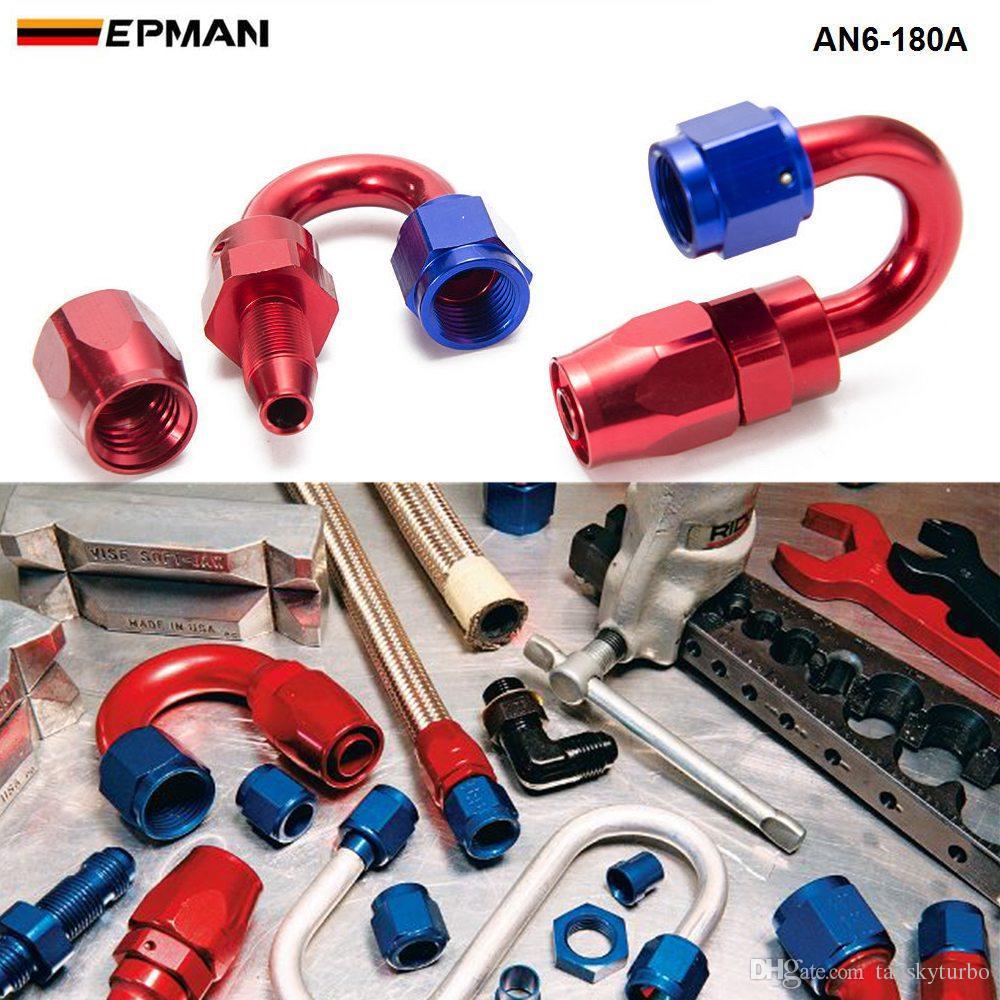 Tansky - 10 piezas / unidad de manguera de refrigeración de aceite de alta calidad con ningún logotipo AN6-180A tienen en stock