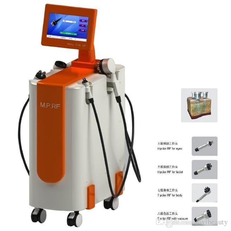 الأكثر فعالية متعدد القطبية RF + فراغ + ليزر RF معدات مكافحة السيلوليت