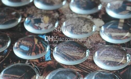 2mm kalınlığı Kolye el sanatları Scrapbooking 1 inç temizle epoksi sticker Reçine Nokta 3D kubbe Yapışkan Çıkartmalar
