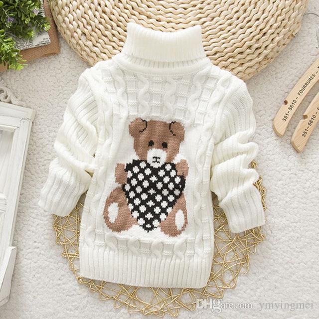 Compre 2016 Otoño Invierno Niñas Niños Jumper Sweaters De Dibujos ...