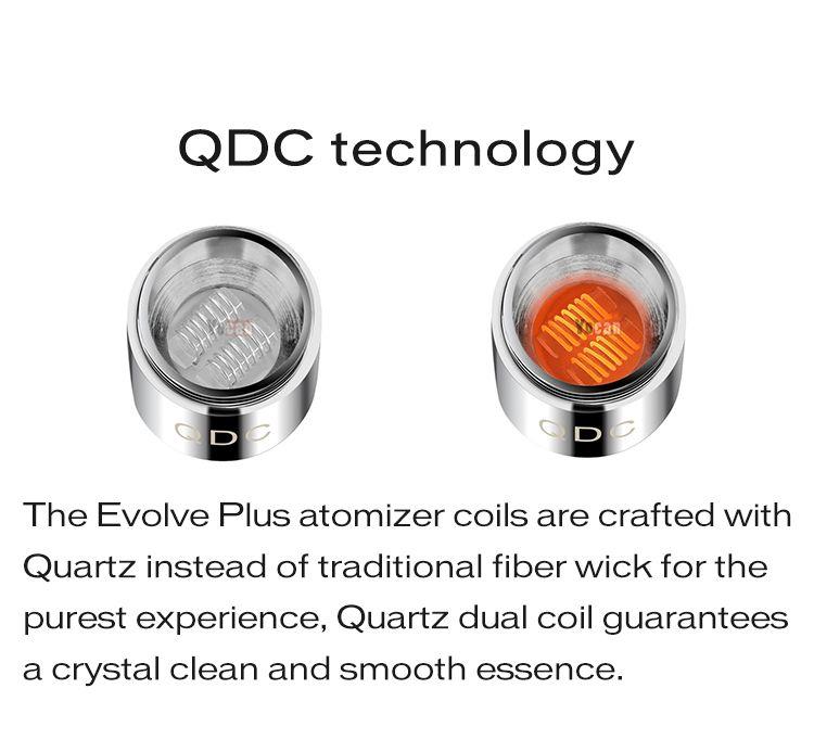 Authentic Yocan Evolve Plus Kit 1100mAh Battery Quartz Dual Coil QDC E Cigarette Kits All In stock