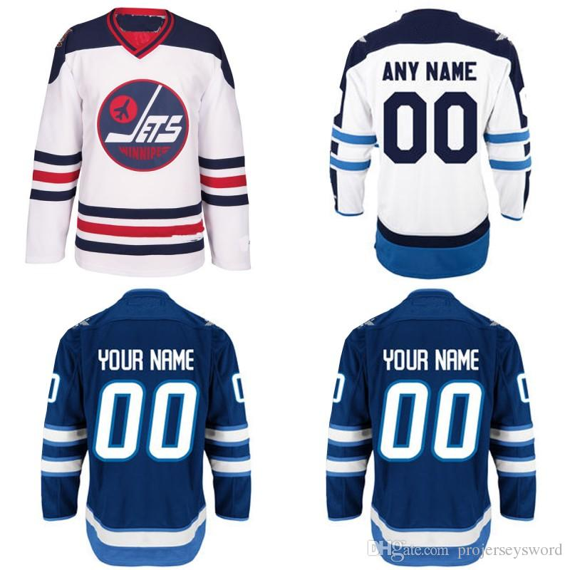 san francisco c804b 0856a Winnipeg Jets Jersey S-5XL Personalized Customized Jerseys With Any Name  and Any Number 100% Stitched Embroidery Logos Hockey Jerseys