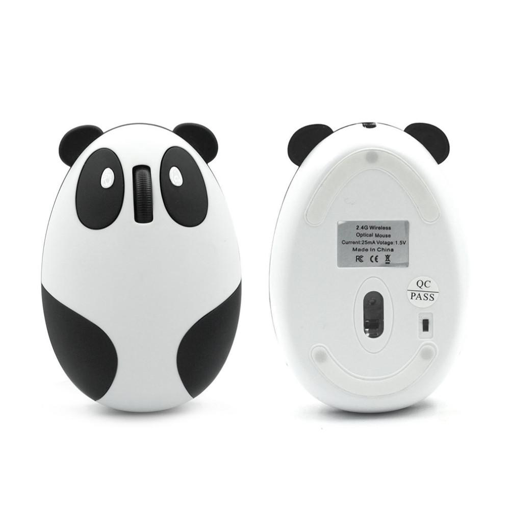 VMW-91 2.4GHz Wireless 2.4G Wired Optical USB Panda Computer Mouse for Win/Mac/Linux/Andriod/IOS Macbook Windows Intel AMD Best Gift