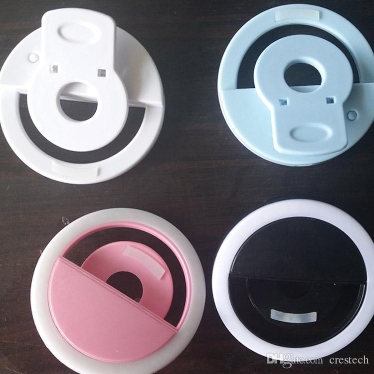 Светодиодные кольца Selfie свет USB перезаряжаемые кольца selfies заполнить свет дополнительное освещение камеры фотографии AAA батареи смарт-мобильные телефоны