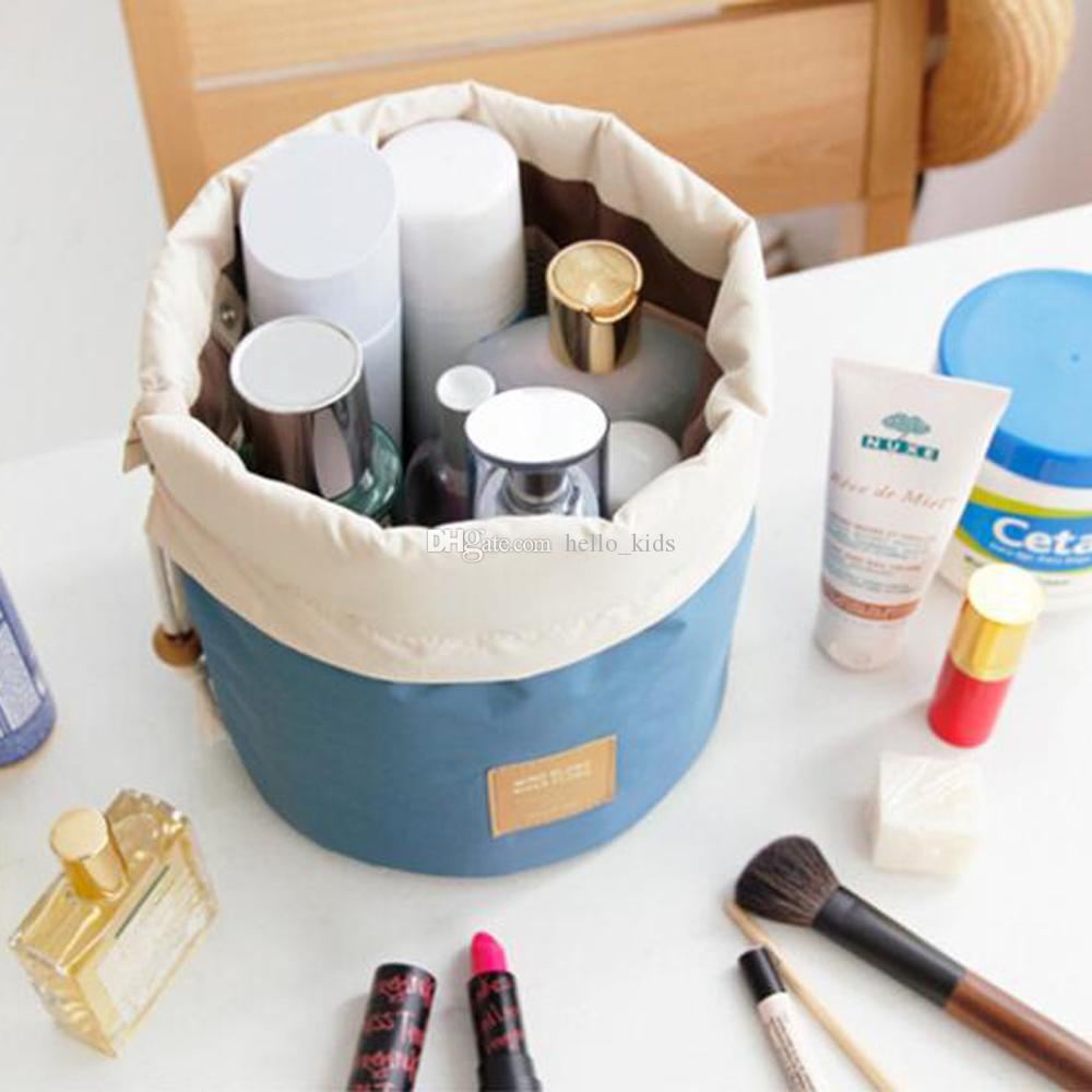 2017 Women Water-proof Storage Bags Mommy Cylinder Diaper Bags Nylon Drawstring bag Travel Makeup Bag Diaper Bags
