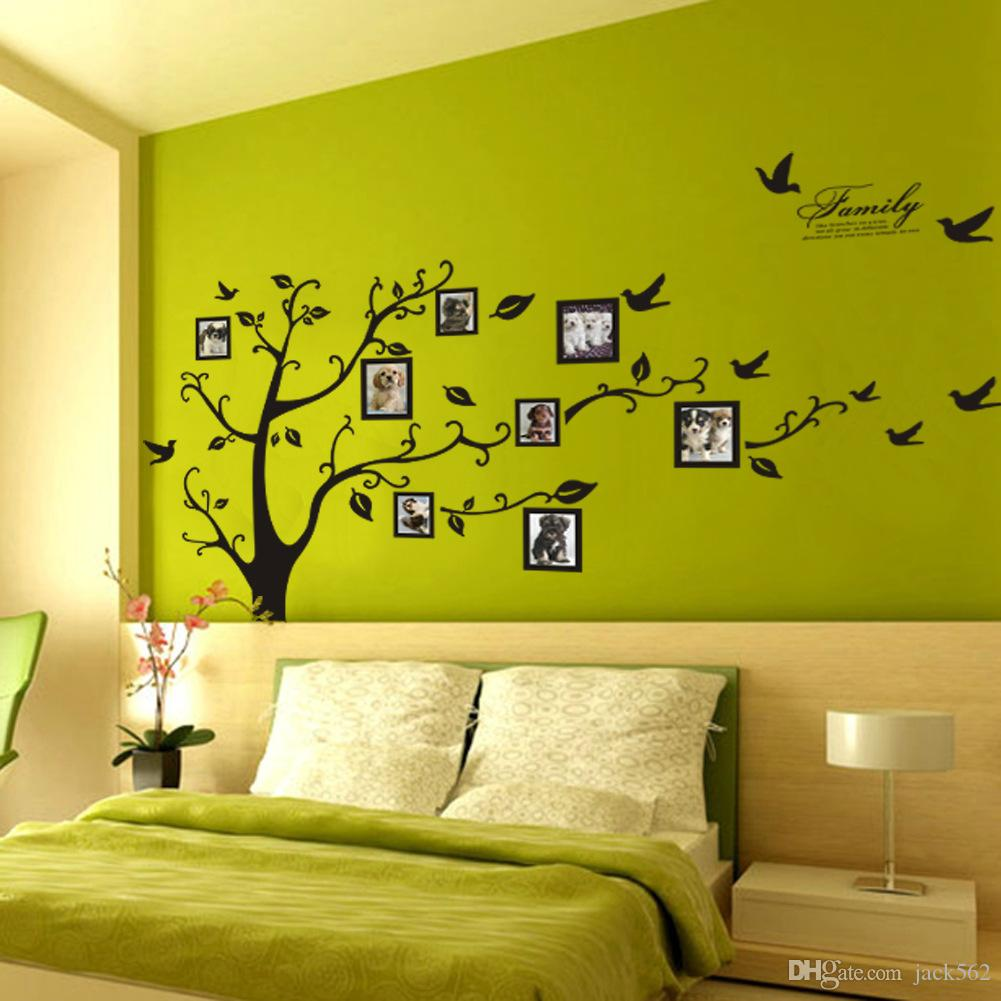 Wall Stickers Home Decor Family Picture Photo Frame Tree Wall Mural Art Stickers PVC Decals Home Decor wallpaper House