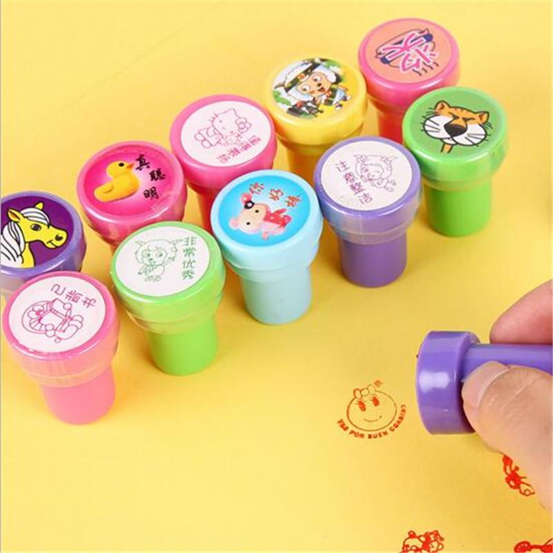 Self ink Stamps Kids Toy Party Favors Novelty Items Event Supplies for Birthday Gift Boy Girl Fun Stationery