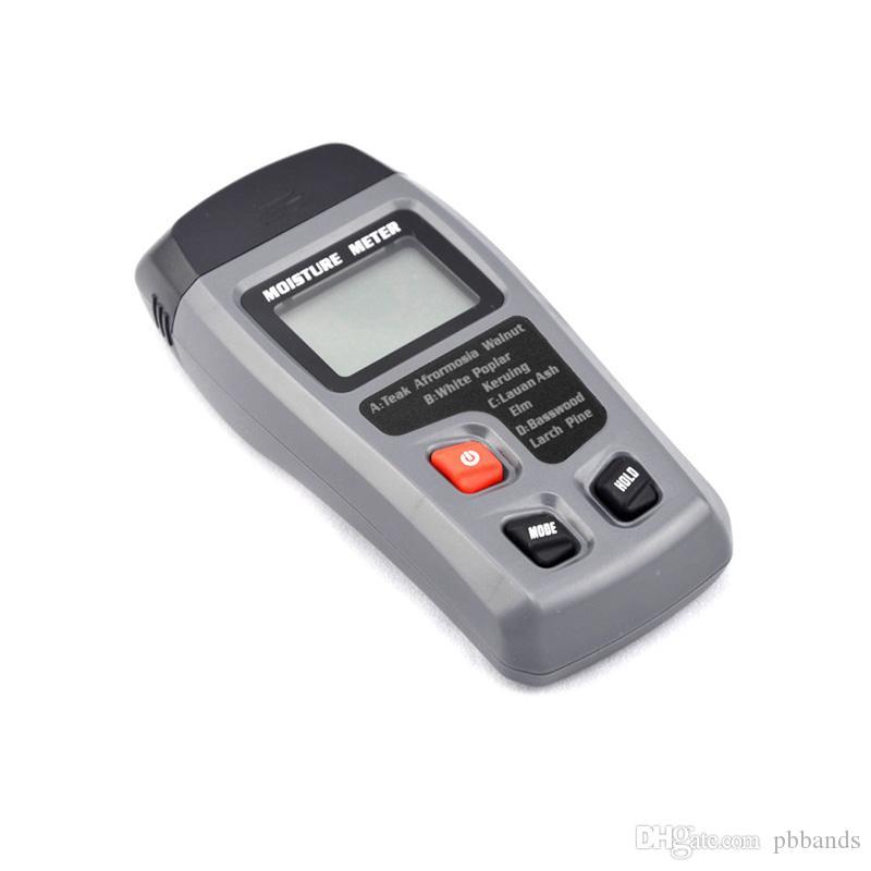 LCD 0-99.9% 2 Pins Industrie du bois Humidimètre Numérique Testeur d'humidité Détecteur d'humidité du bois Conductivité Humidimètre du sol EMT01