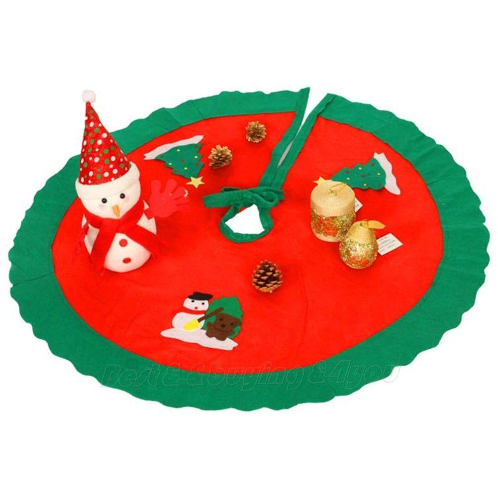 Wholesale Christmas House Round Tree Skirt Red Santa Claus Home Party Decor Contemporary Christmas Decorations Cool Christmas Decorations From Unclouded01