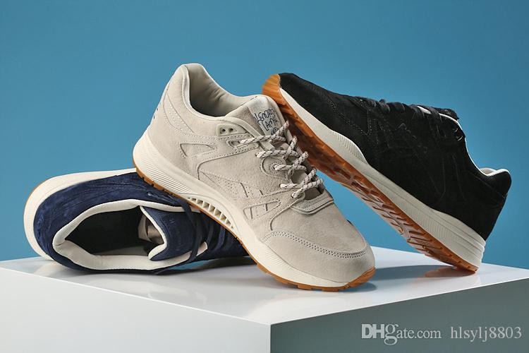 e1aa175dbed Original Shoes! Cream Black And DARK BLUE Running Shoes Best Quality Shoes  Redbo KENDRICK LAMAR Ventilator KL 1560 Pigskin Leather 36 44free Sports  Shoes ...