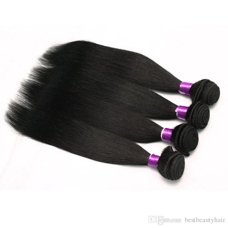 8A brasiliano non trattato diritta dell'onda del corpo di capelli umani del Virgin di estensioni 3/4/5 Bundle 100% Remy Virgin brasiliano peruviano capelli malesi