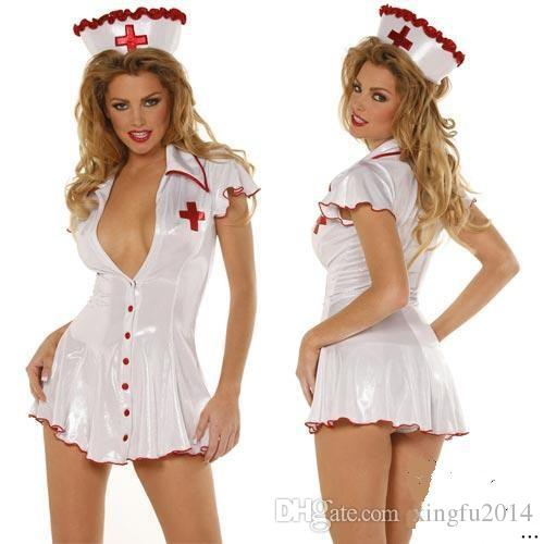 New Arrival Women Sexy White Angel Nurse Lingerie Bodysuit Erotic Hospital Office Game Uniform Temptation Cosplay Fetish Slips