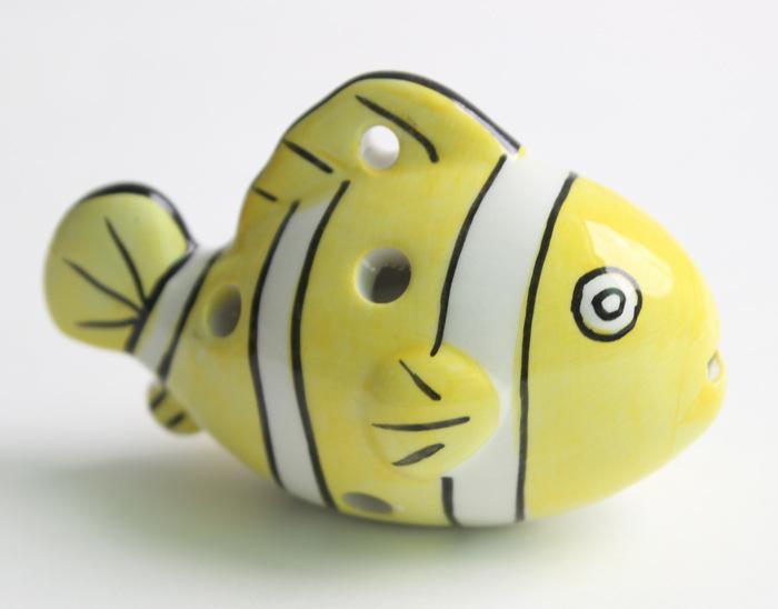 Commercio all'ingrosso 200 Pz / lotto 6 fori Fumetto pesce ocarina in ceramica in ceramica in ceramica ALTO C LEGENDA DI ZELDA ZELDA OCARINA flauto / strumenti musicali