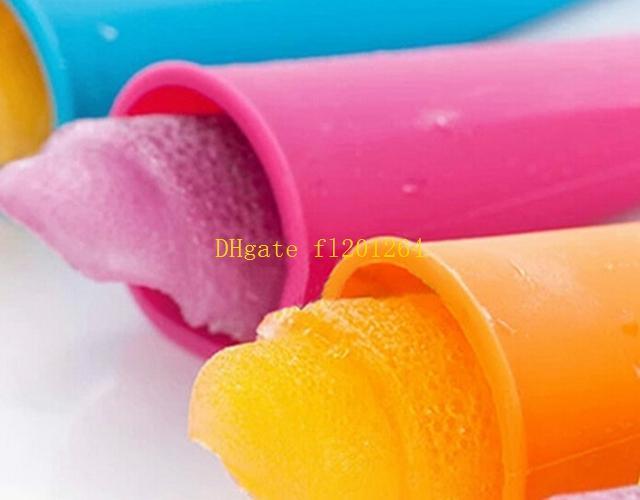 Silicone Ice moule moule avec couvercle fabricants de crème glacée Push Up Ice Cream cas