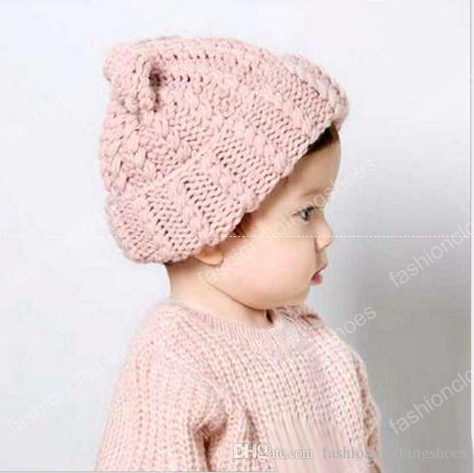 Best Big Baby Boys And Girls Knit Crochet Caps Teenager Fashion Knitted Hats  2017 Junior Autumn Winter Warm Accessories Under  4.18  f494d3ac548