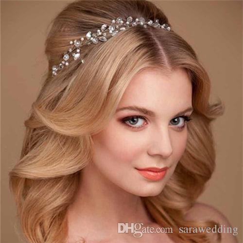 Wedding Bridal Bridesmaid Handmade Colored Crystal Pearl Garland Crown  Wedding Headdress Hair Band Bridal Hair Jewelry Accessories 2018 Handmade  Hair ... 9a8fbed04ba