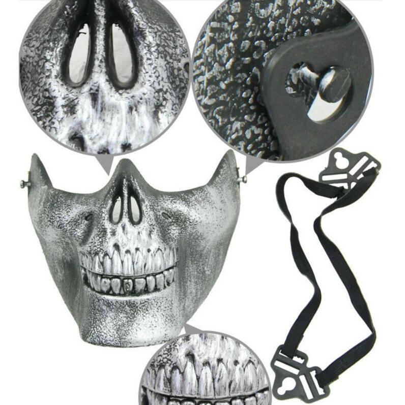 Divertente Paintball in PVC Airsoft Maschere Spaventoso Scheletro Teschio Maschera di Protezione CS Giochi di Halloween Carnevale Anno Nuovo di Alta Qualità i