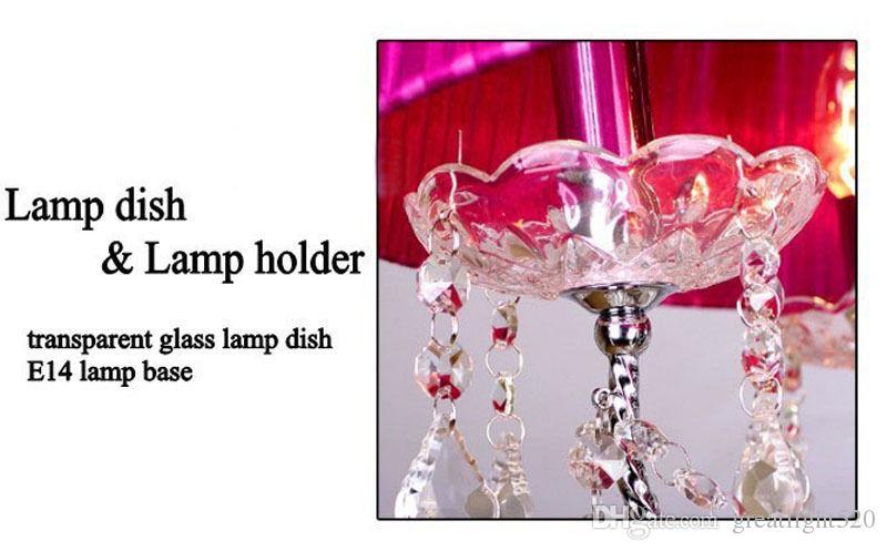 Moderna epoca ciondolo luce luce lampadario a soffitto Moda K9 cristallo con tessuto shadeFor Foyer soggiorno camera da letto sala da pranzo # 19