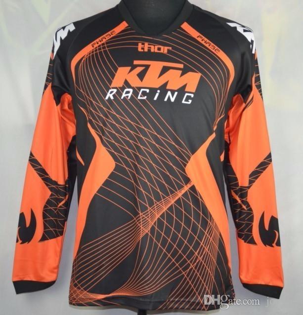 Марка-КТМ мотокросс майки футболки внедорожного мотоцикла велосипед Велоспорт кофта дышащий толстовка горных MTB-Джерси быстро сухой