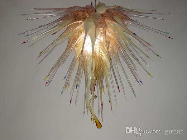Longree Colorido Barato Home Decor Candelabros De Teto De Vidro estilo de design europeu tamanho Grande luz de teto de vidro