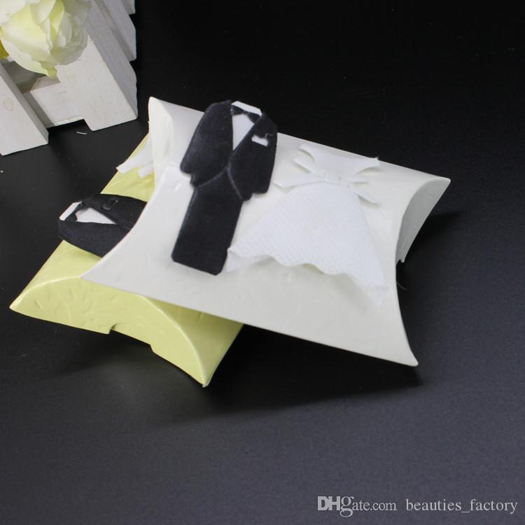 Pillow Candy Box with Bride and Groom Wedding Party Favor Boxes Christmas Gift Boxes New