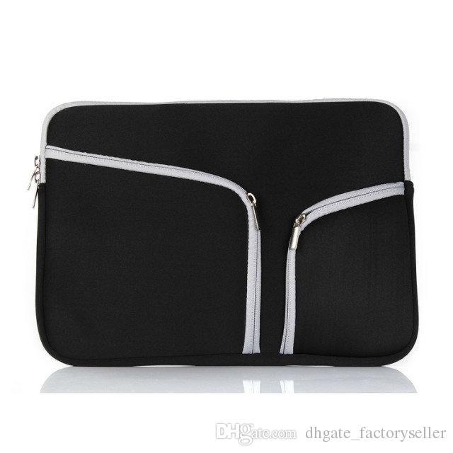 Slim Laptop Protective Case Zipper Bag Sleeve Pouch Handbag For Macbook Air Pro Retina 12 13 15 inch Storage Bag Travelling Bags Durable