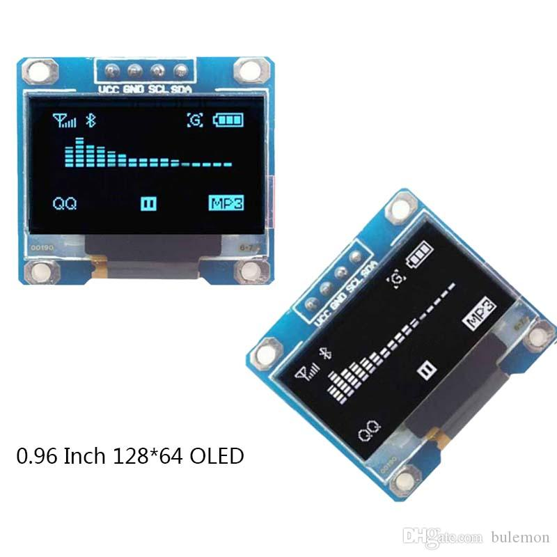 0 96 inch OLED Module 12864 128*64 Display LCD module Blue Words LED  Backlight I2C IIC communication for Arduino