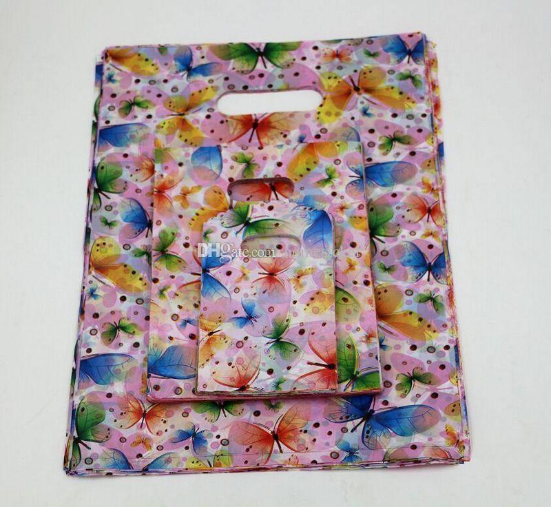 MIC 쥬얼리 파우치 .나비 플라스틱 가방 쥬얼리 선물 가방 .9X15cm / 15x20cm / 25x35cm