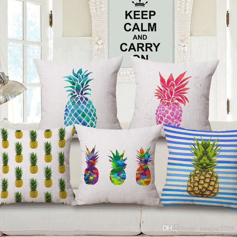 Modern Ananas Decoration Sofa Chair Couch Throw Pillows Case Decorative  Fruit Pineapple Cushion Cover Tropical Cojines Almofada Seat Cushions For  Outdoor ...