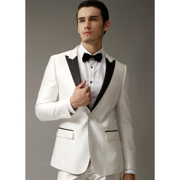 2016 Nice Ivory Men Suits Men Wedding Tuxedos Groom Suits Prom ...