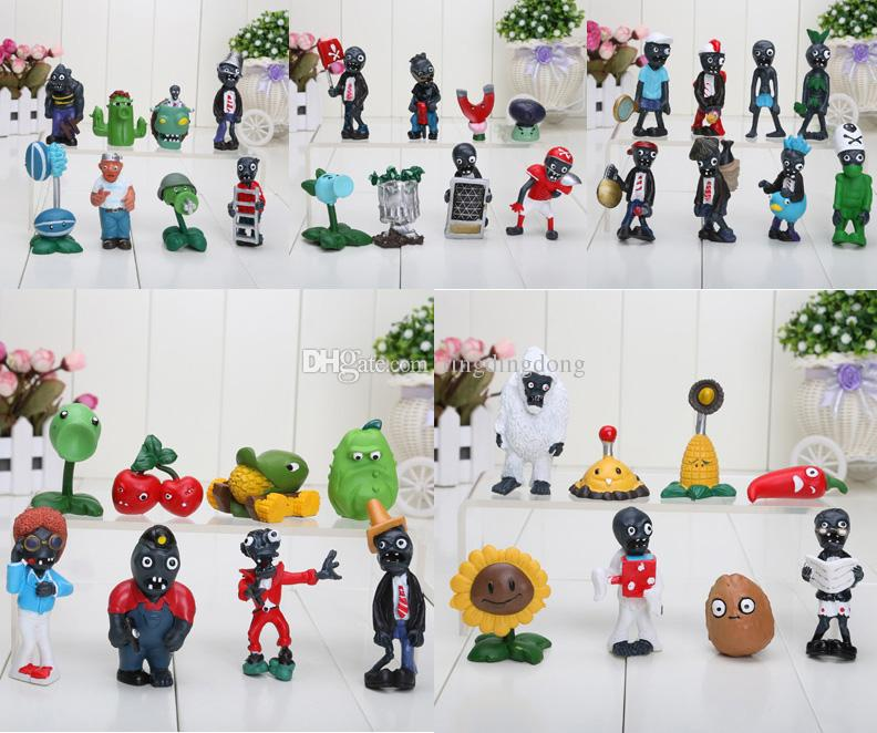 Plants vs Zombies Anime Action Figure 2.5-6.5cm PVZ Collection Figures Toys Gifts plant + zombies