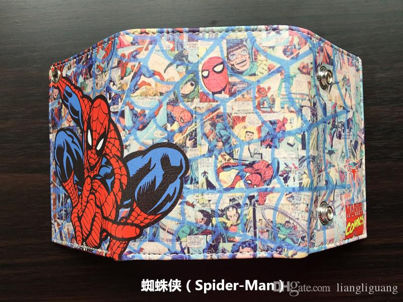 Comics DC Marvel Spider Man Purse Movie Anime Hero Wallets Leather Money Bags Clutch Pouch Teenager Cartoon Printed Short Wallet