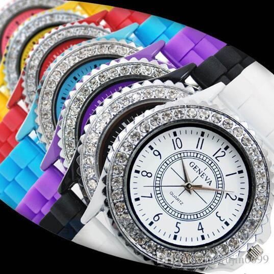 Taobao Related Keywords: Fashion Geneva Watch Silicone Diamond Quartz Female