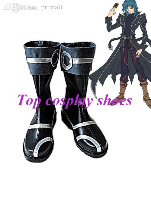 Yu-Gi-Oh! GX Zane Truesdale Cosplay Shoes Boots Custom Made