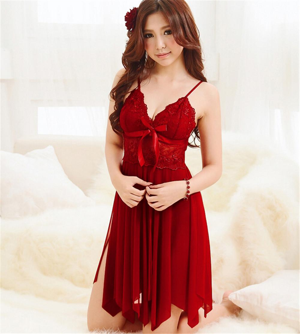 2019 Wholesale Brand Sleep Dress Women Lace Nightgown Women S Nightwear  Exotic Temptation Nighties Female Night Dress Lingerie Sexy Sleepshirts  From Bida ... 4aafaf310
