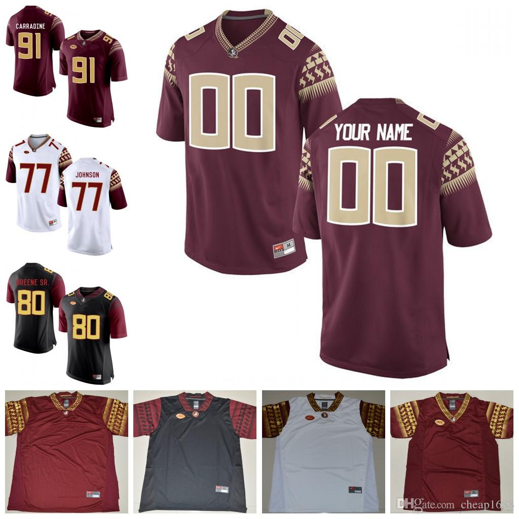 Mens Custom FSU Florida State Seminoles College Football Jerseys Dalvin  Cook Jameis Winston Deion Sanders 1 Jesus Wilson Jersey S 3XL UK 2019 From  Cheap1688 ... a413db632