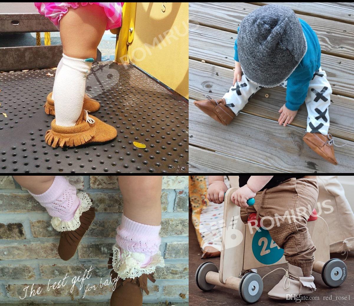 Bébé Premiers Walkers Spring Automne Bébé bébé Mat Texture Matte Manuelle Tassel Soft Bas Soft Shoe Baby Shoe