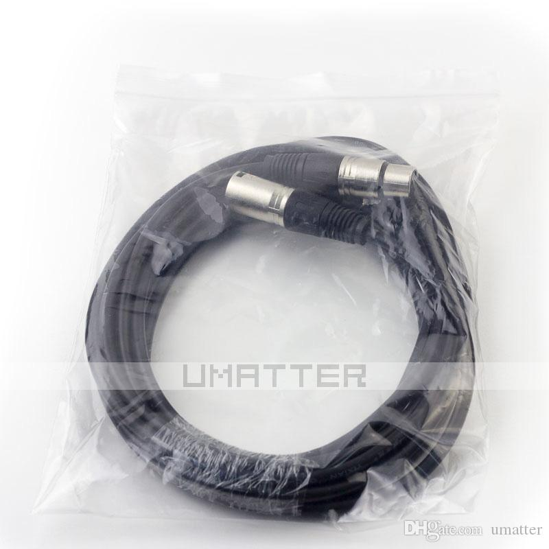 3 Pin Cable Silver XLR Male to Female Microphone Mic DMX Stereo Cables 5M Extension Cable /UP
