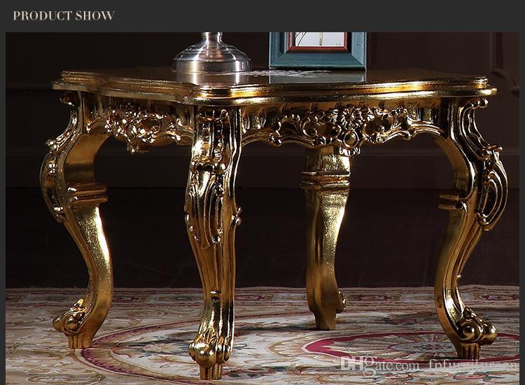 Großhandel Antike Reproduktion Wohnzimmer Möbel Französisch Klassischen  Couchtisch Mit Blattgoldvergoldung Italienischen Quadratischen Tisch Von ...