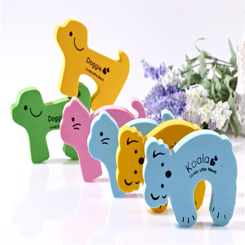 Wholesale- 3 pcs/lot safety Guard Finger Protect wholesale Thick Child kids Baby Animal Cartoon Stop Door stopper holder lock
