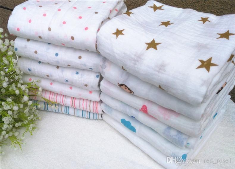 35スタイルのムスリン毛布アデンアナイの赤ちゃんスワドルラップ毛布毛布タオルベビースプリングサマーベビー幼児ブランケット120 * 120cm