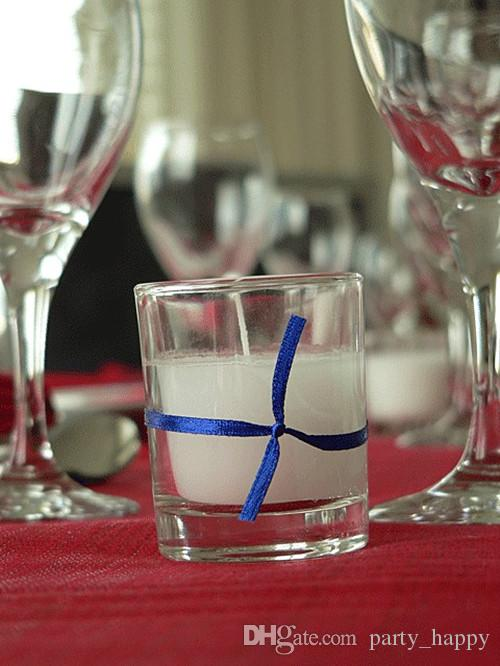 50 White Wax Clear Glass Table Candle The Candle Wax Supply All Kinds Of Glass Processing Production Manufacturers Romantic Glass Candles