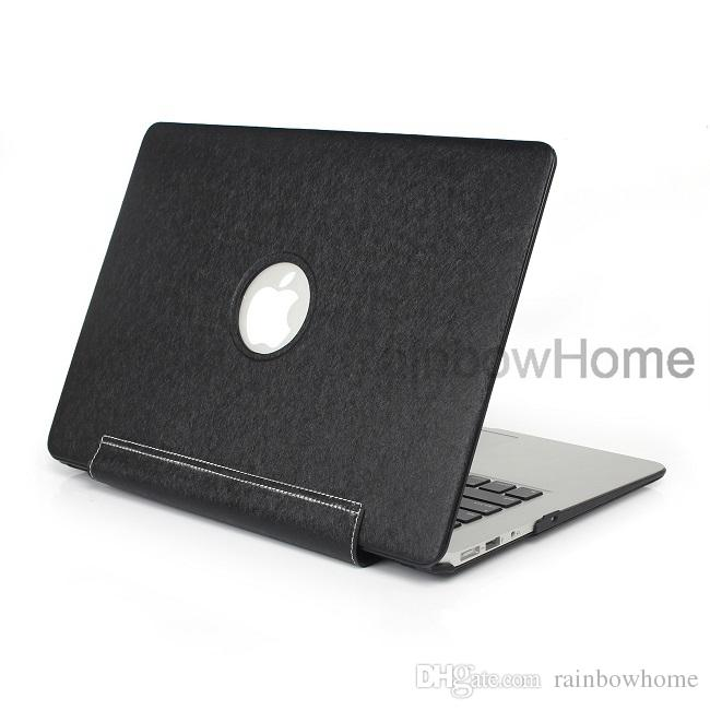 PU Leather Skin Plastic Case Protective Shell Cover for Macbook Air Pro 11 12 13 15 inch Hard Cases Front Back Integrated