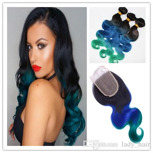 1bblueteal brazilian ombre hair bundles with 44 body wave lace 1bblueteal brazilian ombre hair bundles with 44 body wave lace closure ombre hair weave with closure free parting hair extension wefts weft hair pmusecretfo Choice Image