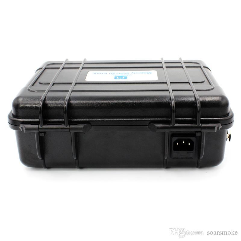 New USA and EU market Majesty Pelican Case Temperature Controller Box with coil heater and ti nail DHL
