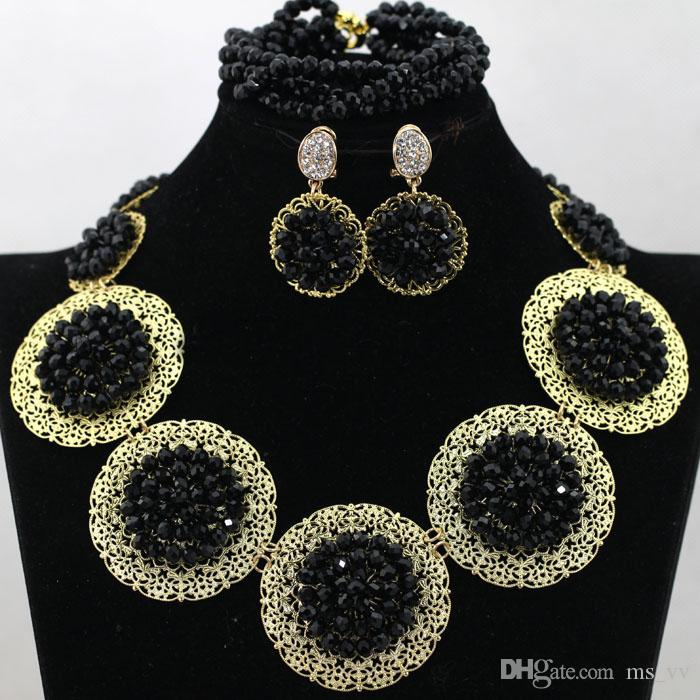 hot! Cheap Jewelry For Women colorful 18k gold plated Crystal Diamante Wedding Bridal Necklace Bracelet Earring Bridesmaid Jewelry Set